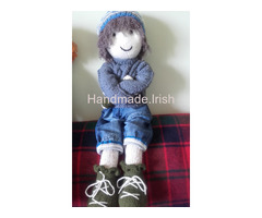 Unique hand knit doll