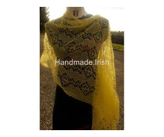 Hand knit lace wrap / shawl
