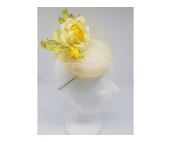 Fascinator Yellow Rose