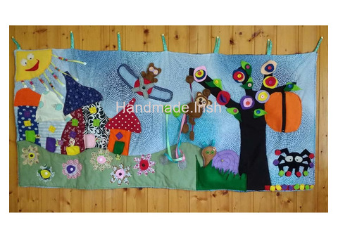 Active textile pictures/wall hanging forint kids