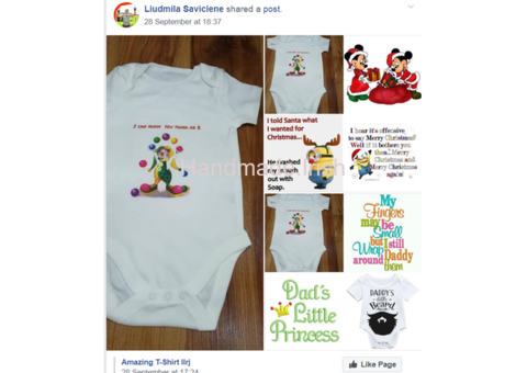 Personalized bibs and bodysuits