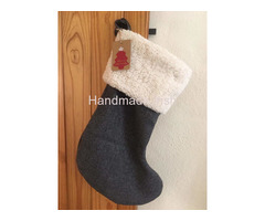 Wool tweed lined Christmas Stocking