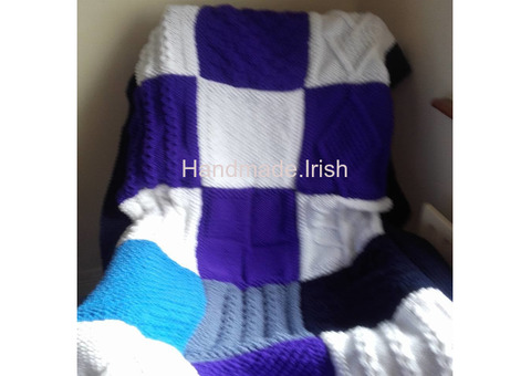 Hand knit blankets/throws