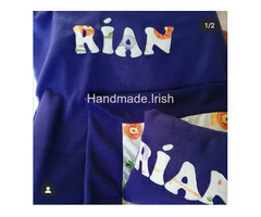 Personalised Blankets, cushions and taggies