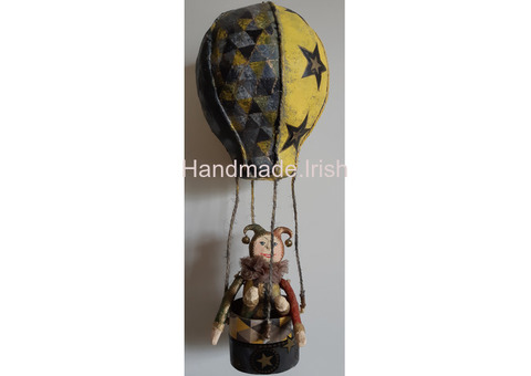 Hot Air Balloons with basket and bear