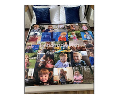Personalised cuddle fleece photo memory blankets