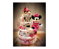 Minnie Mouse and Mickey Mouse Nappy Cakes