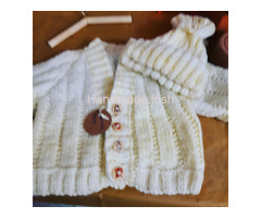 Knitted and crochet baby items