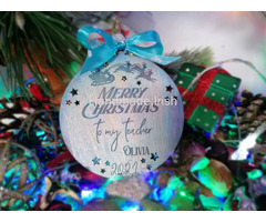 Christmas Decoration - Personalised Teacher Gift